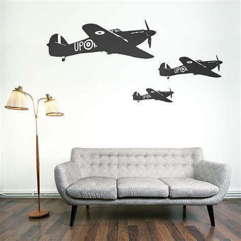 wall vinyl hawker hurricane vinyl wall sticker by oakdene designs