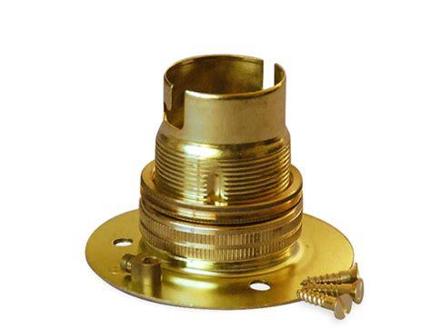 batten holder l shade brass batten bc lholder with shade rings