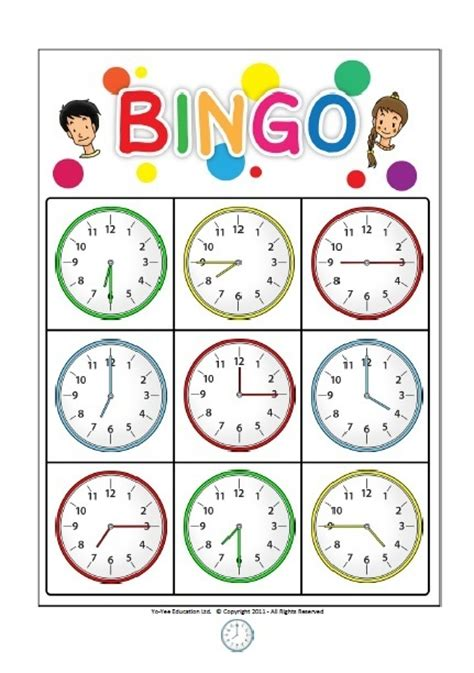 printable clock bingo common worksheets 187 time bingo worksheets preschool and
