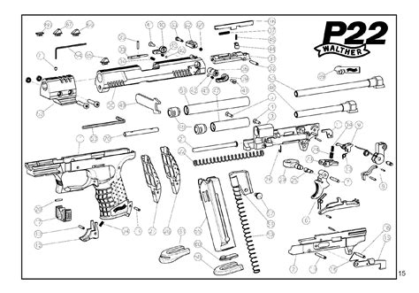 walther p22 parts diagram p22 pistol parts wiring diagram and fuse box