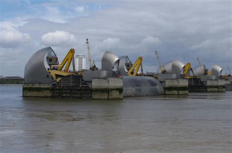Thames Barrier Raised | thames path national trail stage 13