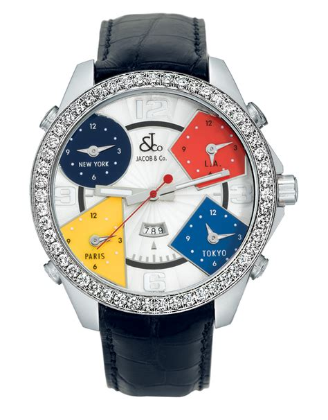 five time zone jacob co timepieces jewelry
