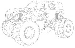 pics photos monster truck coloring pages
