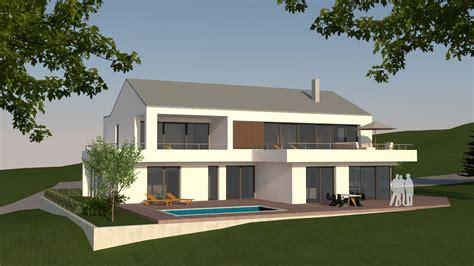moderne häuser mit satteldach neubau moderne villa mit satteldach in wei 223 enburg hochplan