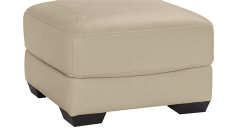 beige leather ottoman grand palazzo beige leather ottoman contemporary