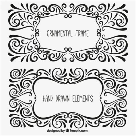 cornici ornamentali cornici ornamentali in stile disegnato a mano scaricare