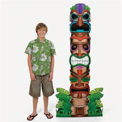 How To Make A Totem Pole Out Of Paper - totem pole stand up orientaltrading events at