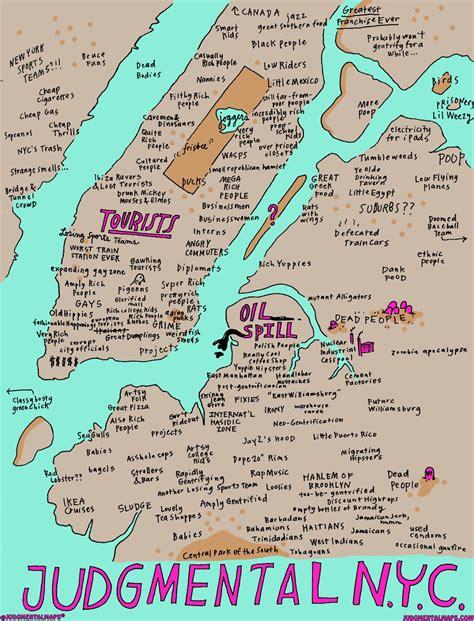 Judgmental Maps Throwback Thursday New York City Ny