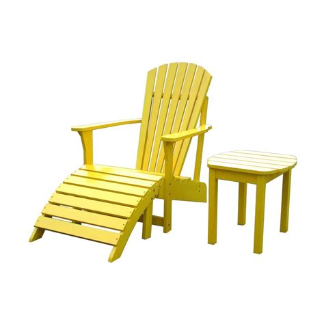 shop international concepts yellow acacia patio adirondack