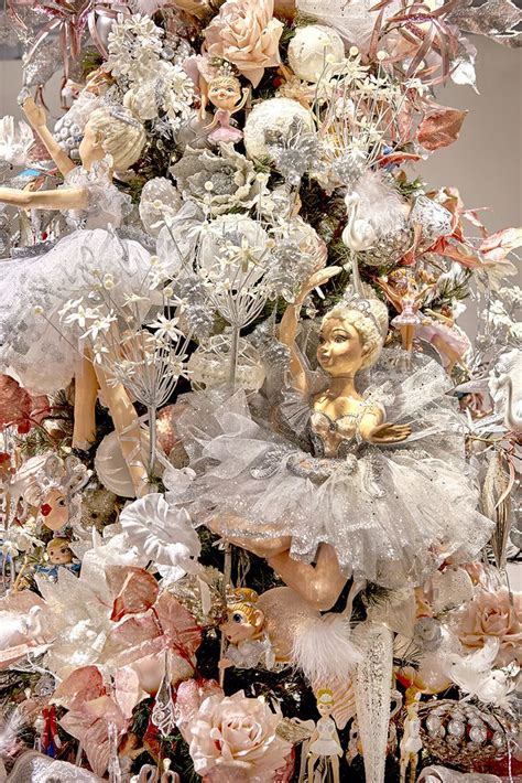 beautiful ballerina doll on a ballet themed christmas tree