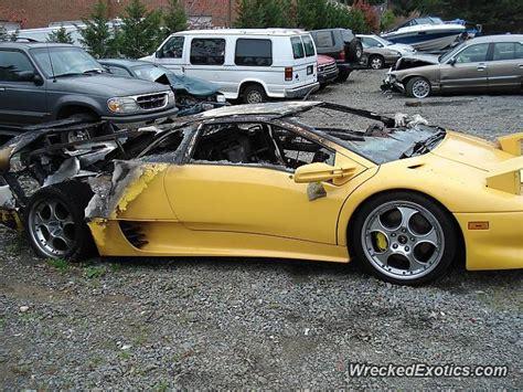 Lamborghini Rental Virginia 1991 Lamborghini Diablo Wrecked In Alexandria Virginia