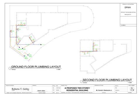 pipe layout en espanol a proposed two storey spanish mediterranean residential