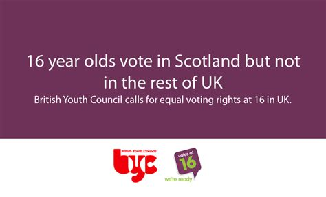 votes at 16 16 year olds vote in scotland but not in the rest of uk youth council