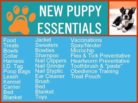 new puppy list new puppy checklist necesito