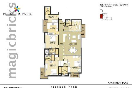 pioneer park gurgaon floor plan pioneer park in sector 61 gurgaon magicbricks