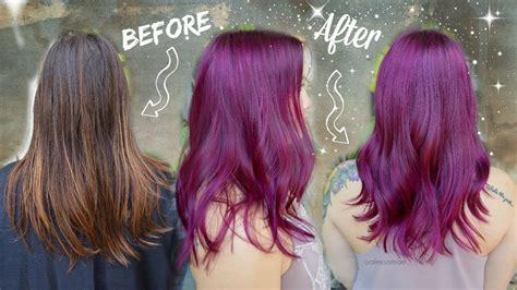 permanent purple hair color purple magenta permanent hair color makeover unicorn