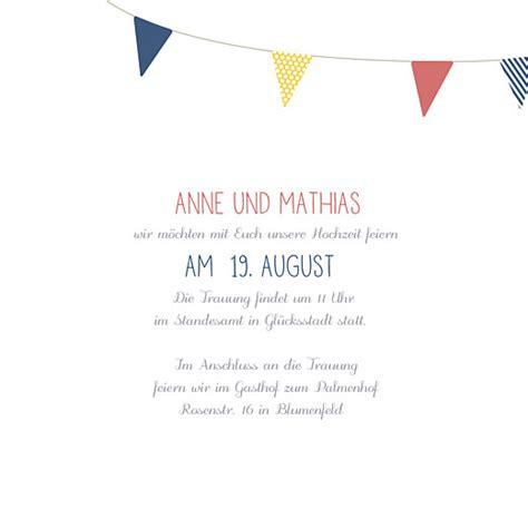 Hochzeitseinladung Wimpelkette by Hochzeitseinladung Wimpelkette Atelier Rosemood