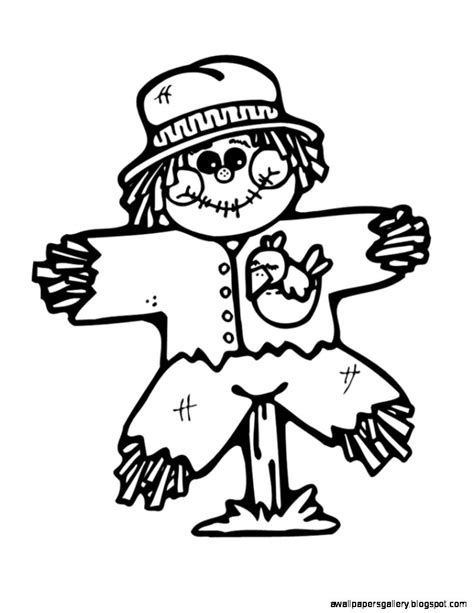 easy scarecrow coloring pages free scarecrow clipart pictures clipartix