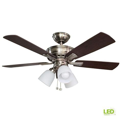 A Guide To Where Nickel Ceiling Lights Best Match Warisan Lighting Hton Bay Vaurgas 44 In Led Indoor Brushed Nickel Ceiling Fan With Light Kit 68144 The Home