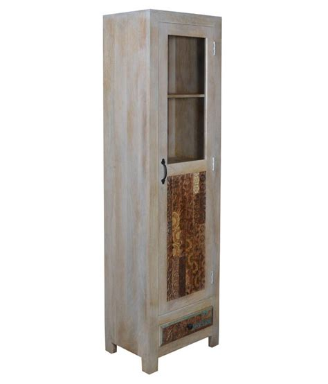 shekhawati solid wood single door wardrobe price in india