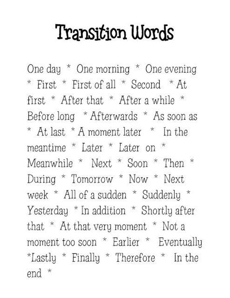 Words To Start A Paragraph In An Essay by 25 Great Ideas About Transition Words On