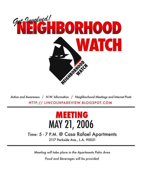 Neighborhood Watch Flyer Template neighborhood crime prevention information for