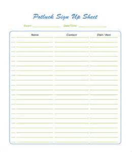 potluck signup sheet template word potluck signup sheet 9 free pdf word documents