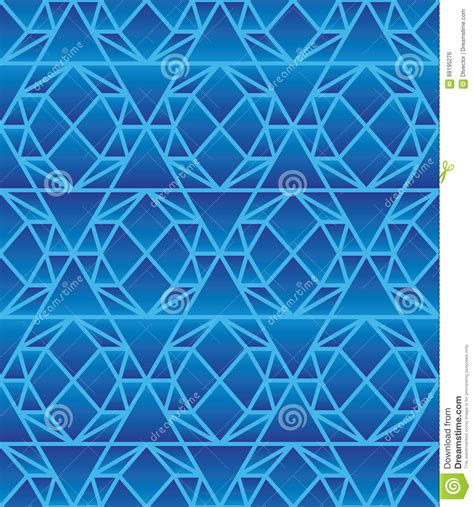 pattern in blue color light blue color geometric hexagon seamless pattern