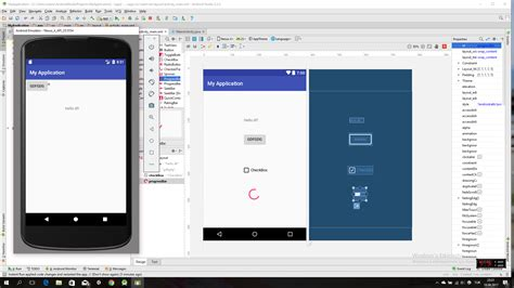 android studio different layout android app in emulator is not updating with the project