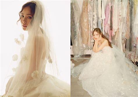 korean actress gown korean actress min hyo rin shines in wedding gown