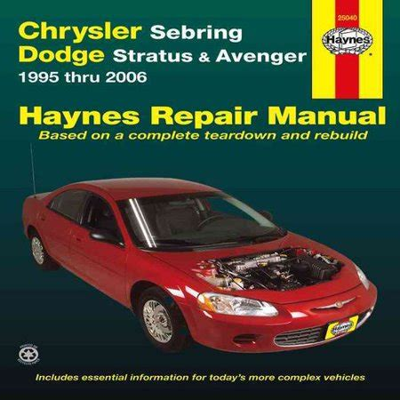 cirrus sebring avenger stratus breeze repair manual 1995 1998 all chrysler sebring parts price compare