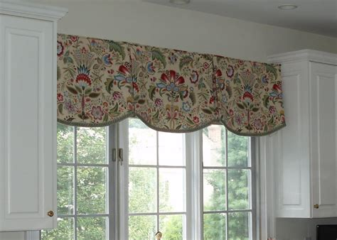 curtains kitchen window ideas valances kitchen scalloped valance by sue sson a sewing ideas window treatment ideas