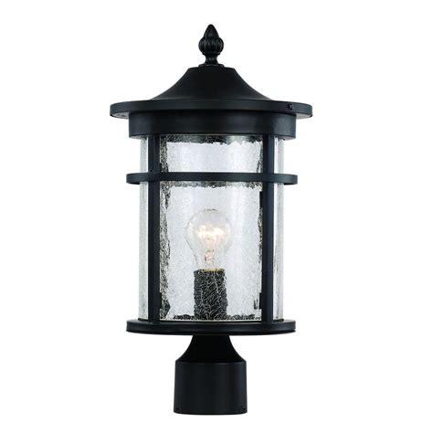 Bel Air Lighting 3 Light Outdoor Post Bel Air Lighting 1 Light Black Outdoor Crackled Outdoor Post Lantern 40383 Bk The Home Depot