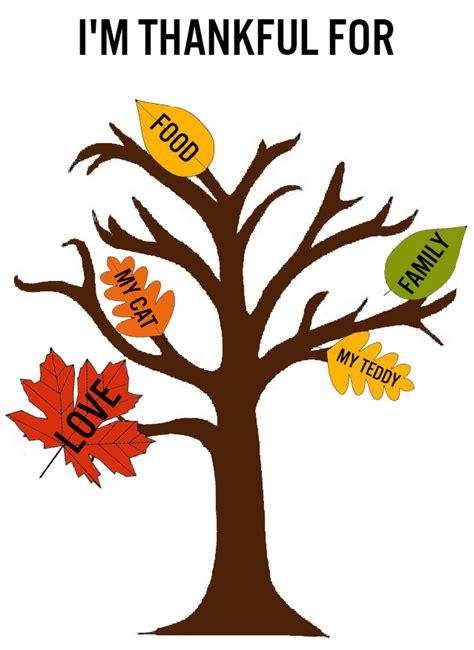 thankful tree template the friday five thanksgiving diys squirrelly minds