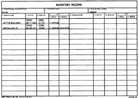 inventory log books equipment maintenance log book