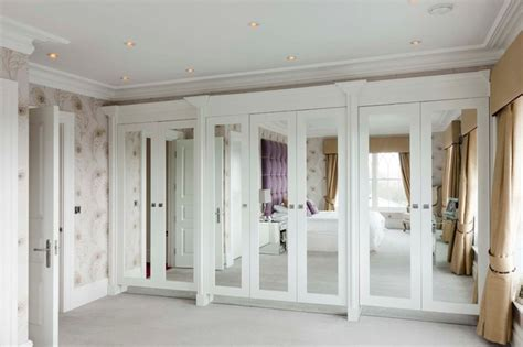 Ideas For Mirrored Closet Doors by Attractive White Master Bedroom Closet Ideas In The