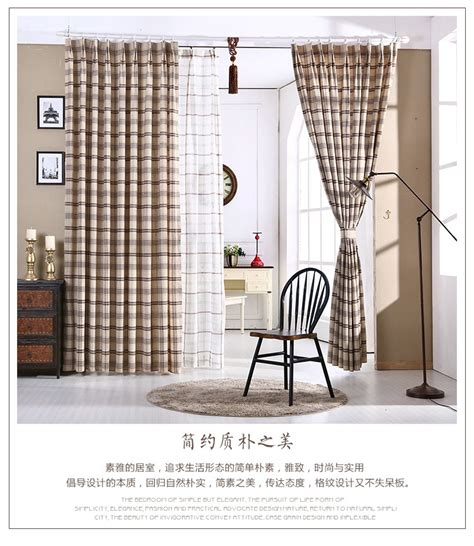 american country style living room bedroom linen cotton online get cheap country plaid fabric aliexpress com