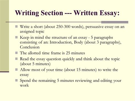sat section times writing suggestions sat essays ppt video online download
