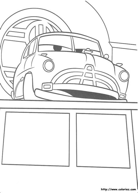 coloring pictures of cars 2 the movie coloriage coloriage de doc hudson