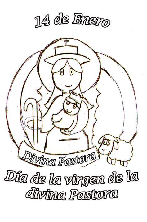 imagenes de virgen la pastora para colorear divina pastora dibujos para colorear maestra karolina