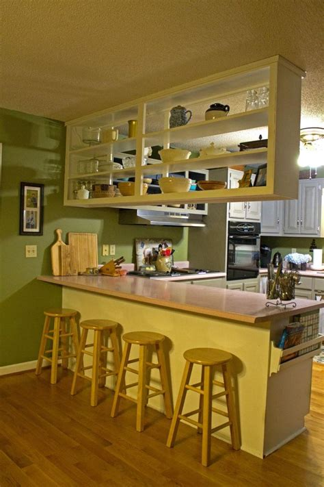 kitchens with shelves green 12 easy ways to update kitchen cabinets open shelving