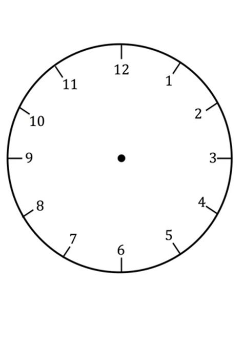 Clock Faces For Use In Learning To Tell The Time Craft N Home Clock Craft Template