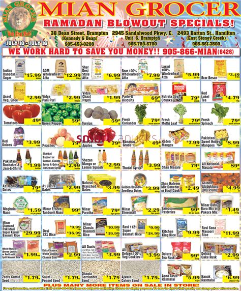Garden Grocer Coupon Code by Mian Grocer Flyer July 10 To 16