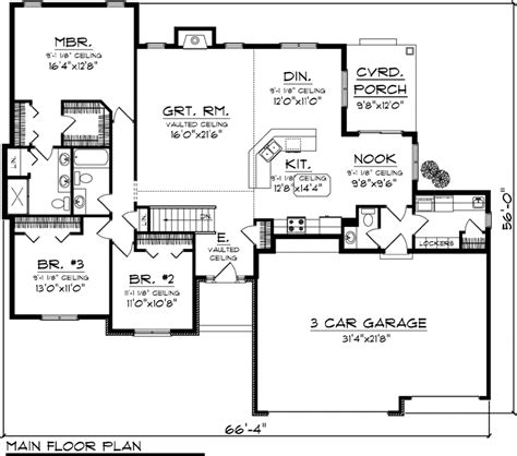 1500 Sq Ft Ranch House Plans by House Plan 73298 At Familyhomeplans Com