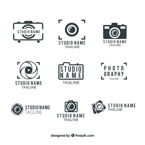 photography studio logo template vector free download
