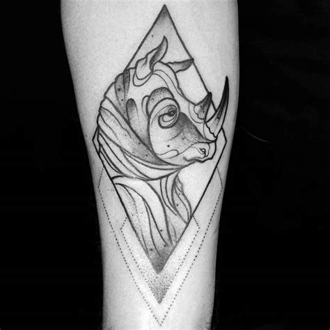 monolith tattoo 28 creative rhino designs and ideas tattoobloq