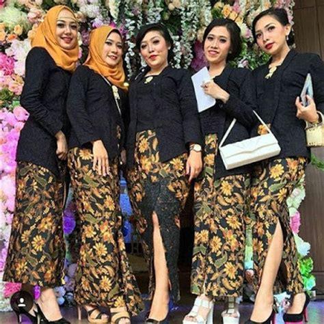 Batik Modern Hitam Kebaya kumpulan gambar model baju kebaya batik gaun pesta modern