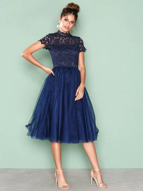 chi chi london jurk blauw devon dress chi chi london navy party dresses