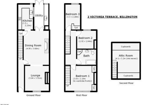 terraced house loft conversion floor plan 3 bedroom terraced house for sale in 2 victoria terrace
