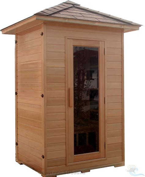 2 person sauna outdoor far infrared hemlock 5 ceramic